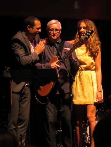 Bo Stief med sin stedsøn Bobo Moreno og hans datter Sally Moreno Risell til Bos 50 års jubilæum.