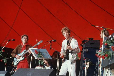 Kasper Winding, Finn Gustavsson, Aske Benzon, Bo Stief Orange Scene, Roskilde Festival 1979