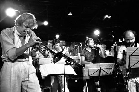 Palle Mikkelborg, Niels Henning Ørsted Pedersen, Jesper Nehammer og Bo Stief Jazzhus Montmartre, Nørregade 1982