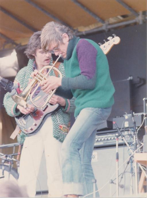 Palle Mikkelborg og Bo Stief  Roskilde Festival 1977