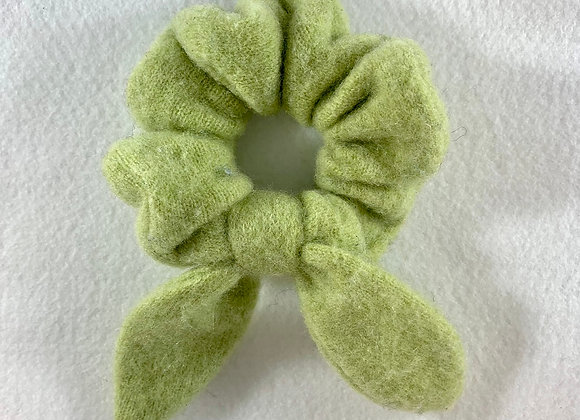 Light Green Cashmere Scrunchie