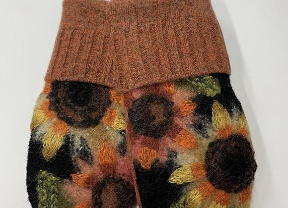 Sassy Sunflower Mittens