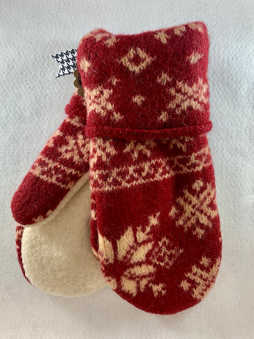 Red Snowflake Mittens