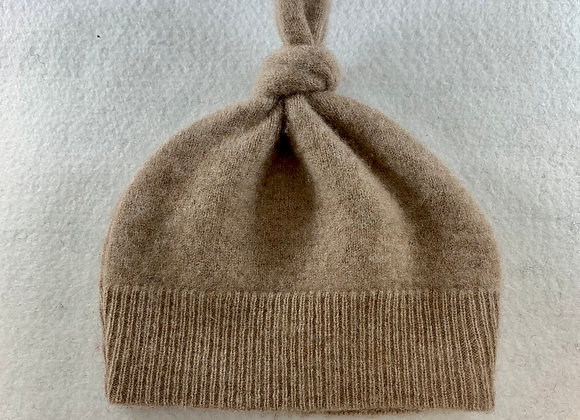 Tan/Oatmeal Cashmere Cable Beanie