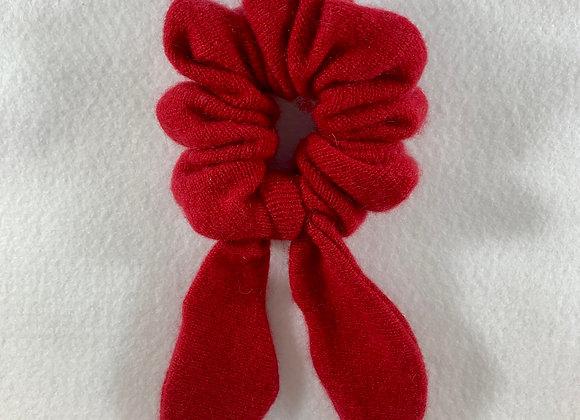 Red Cashmere Scrunchie