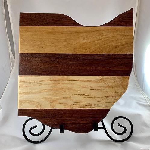 Ohio Board Made of Black Walnut, Cherry and Ash