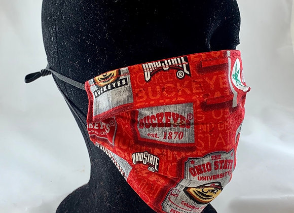 OSU/Buckeyes Reversible Face Mask