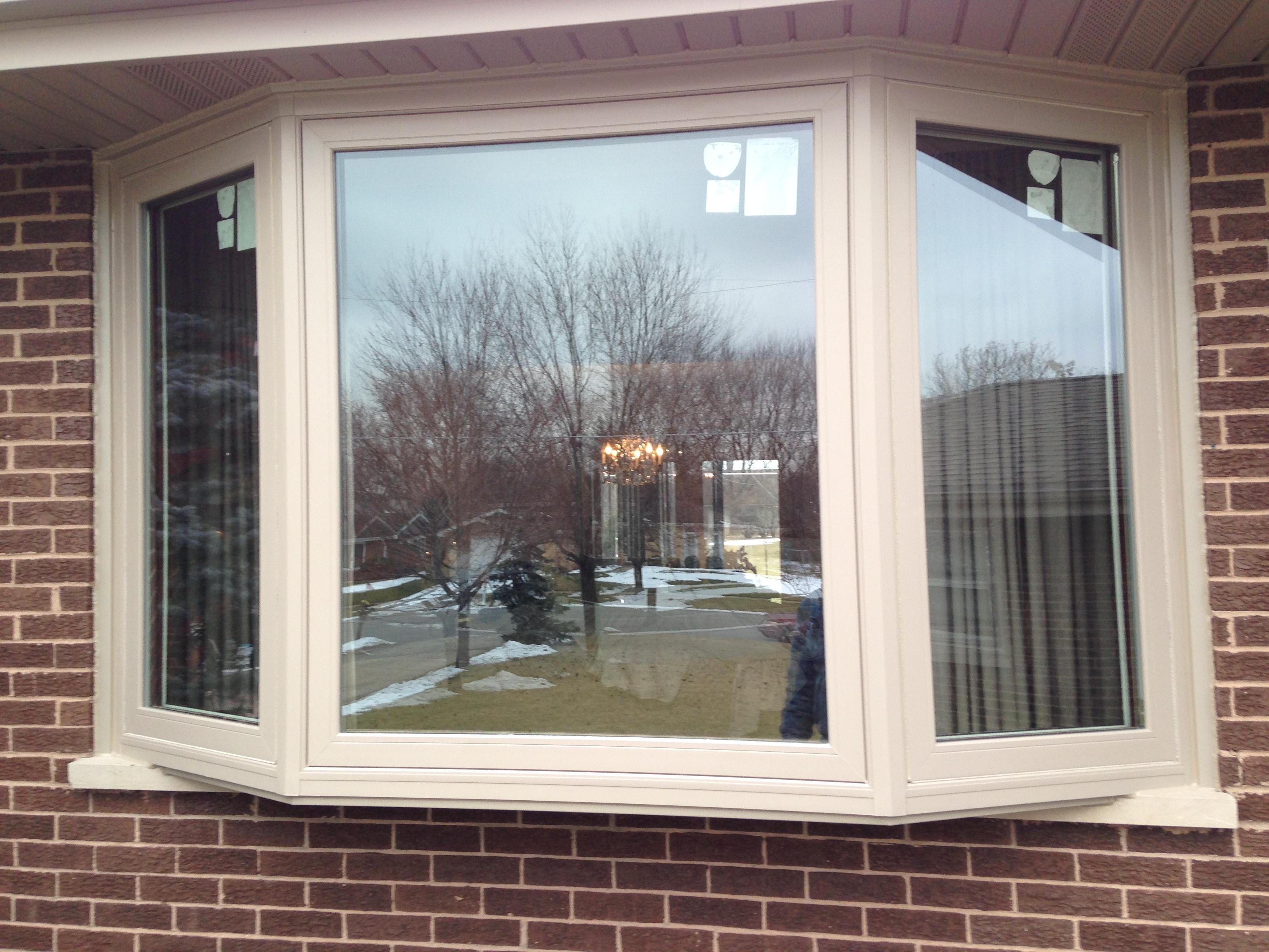 Custom color casement bay window