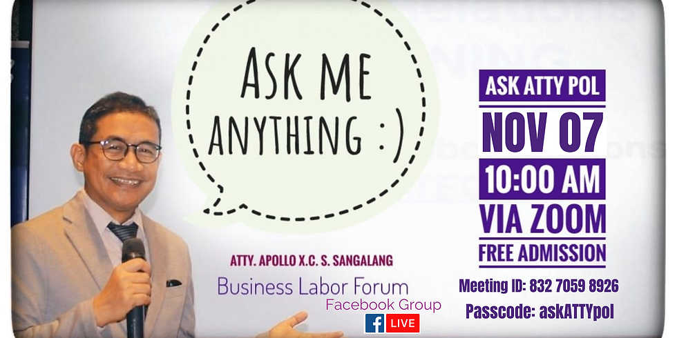 ASK ATTY POL (November Episode)