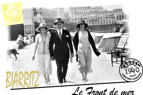 """Housse de coussin Germaine Biarritz """"le front de mer"""""""