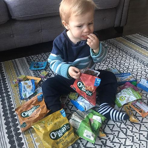 Toddler Snacks - Hugo Eating Snacks