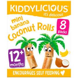 kiddylicious - banana coconut rolls