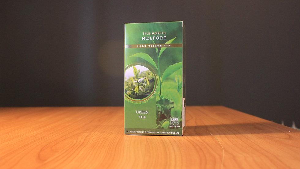 Melfort Green Tea - 25 Enveloped Teabags x 1.5g