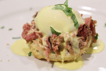 Pulled Pork Green Chile Benedict