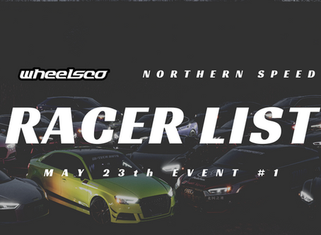 May 23 Racer List