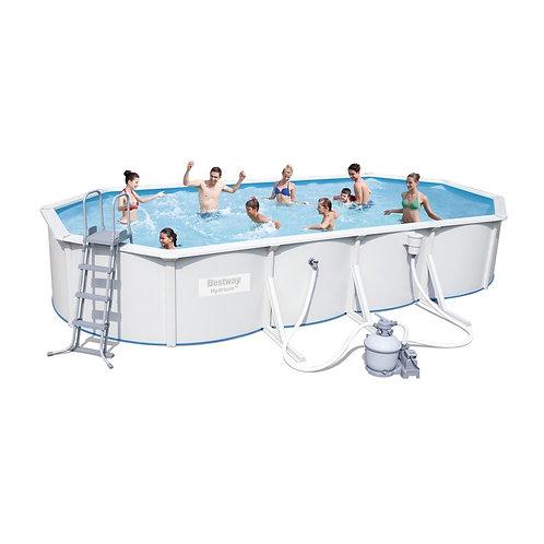 56369 BW, BestWay, Стальной овальный бассейн Hydrium Oval Pool Set 610х360х120см
