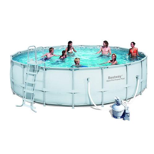 56280 BW, BestWay, Каркасный бассейн, 549х132 см, 26000 л, песочный фильтр-насос