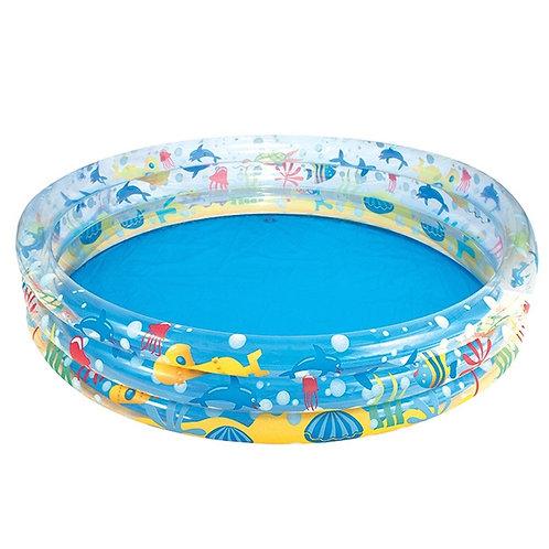 """51004 BW, BestWay, Детский круглый бассейн """"Подводный мир"""", 152х30 см, 282 л"""