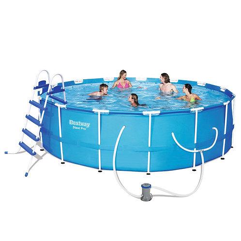 56438 BW, BestWay, Каркасный бассейн, 457х122 см, 16015 л.,фильтр-насос 3028л/ч