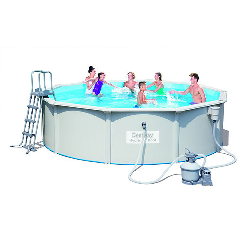 56382 BW, BestWay, Стальной бассейн Hydrium Pool Set 460х120 см, 17430 л