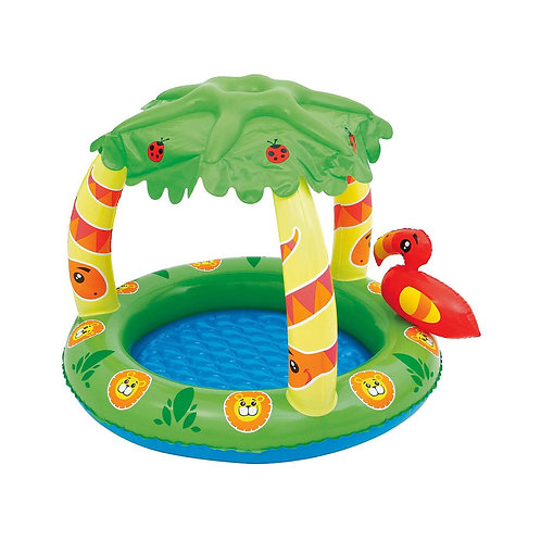 "52179 BW, BestWay, Детский бассейн с навесом от солнца ""Джунгли"", 99х91х71 см, 2"