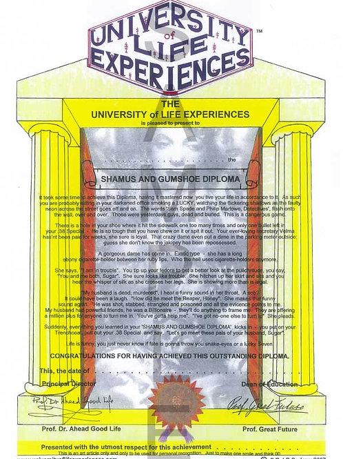 Shamus & Gumshoe Diploma