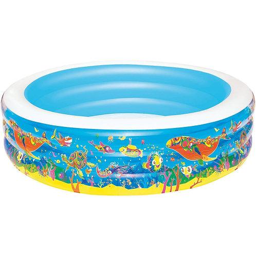 """51123 BW, BestWay, Детский круглый бассейн """"Подводный мир"""", 229х56 см, 1147 л"""