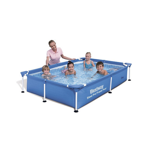 56401 BW, BestWay, Каркасный прямоугольный бассейн 221х150х43 см, 1200 л