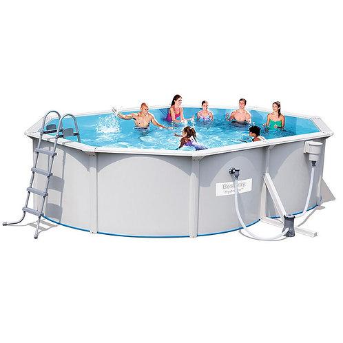56583 BW, BestWay, Стальной овальный бассейн Hydrium Oval Pool Set 500х360х120см