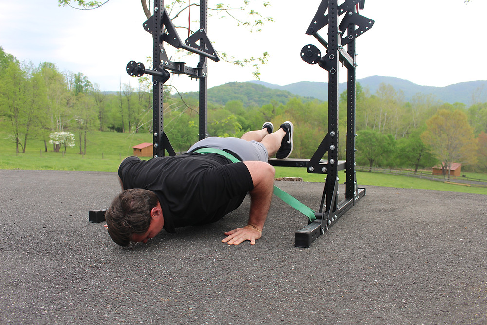 decline, resisted push-up