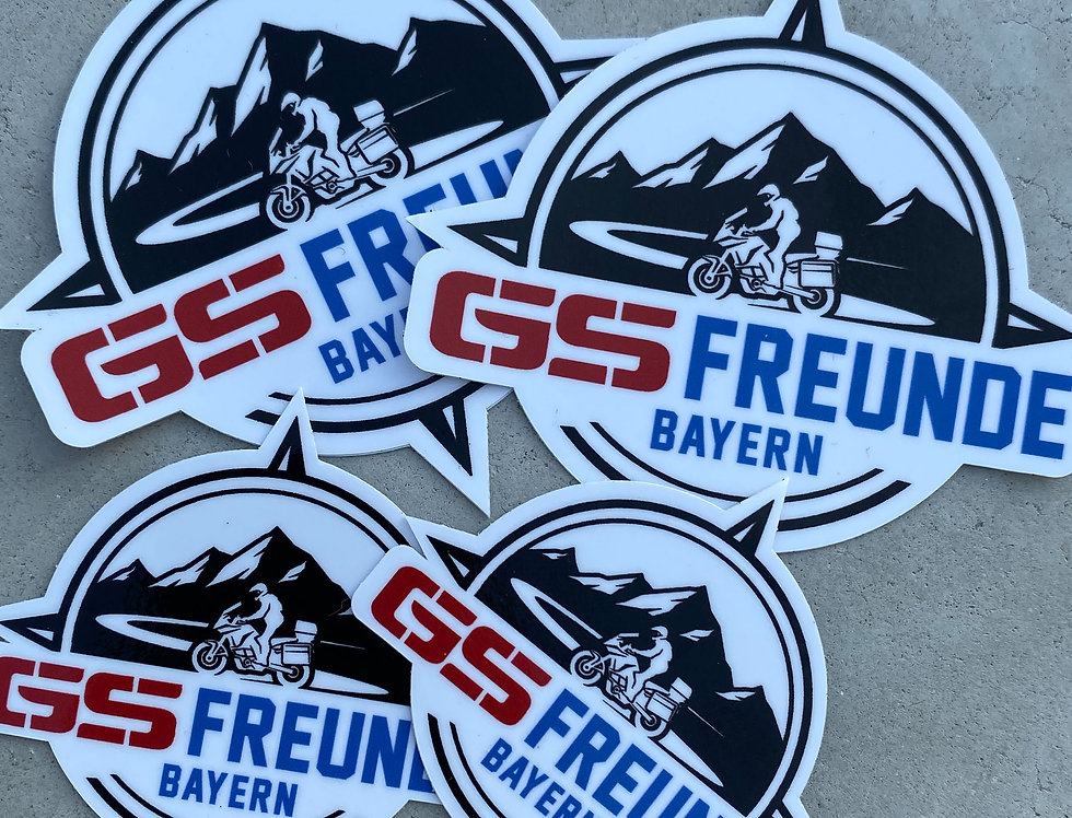 4x GS Freunde Bayern Sticker