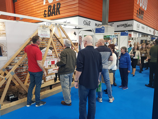 We've officially arrived at the National Homebuilding and Renovating Show!