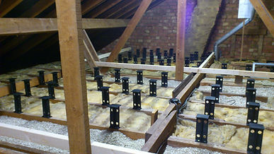 Loft Legs in position before insulation