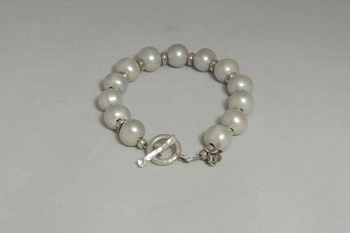 Round Pearl Bracelet by Karen Drazen