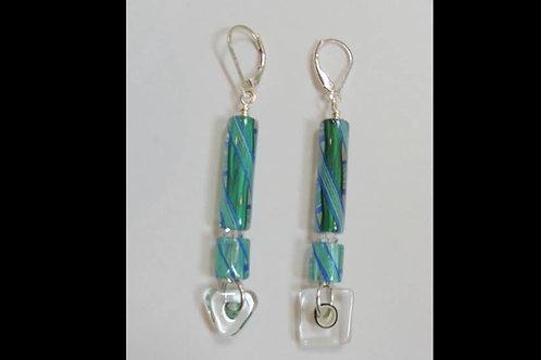 Cane Gladd Dangling Earrings by Karen Drazen