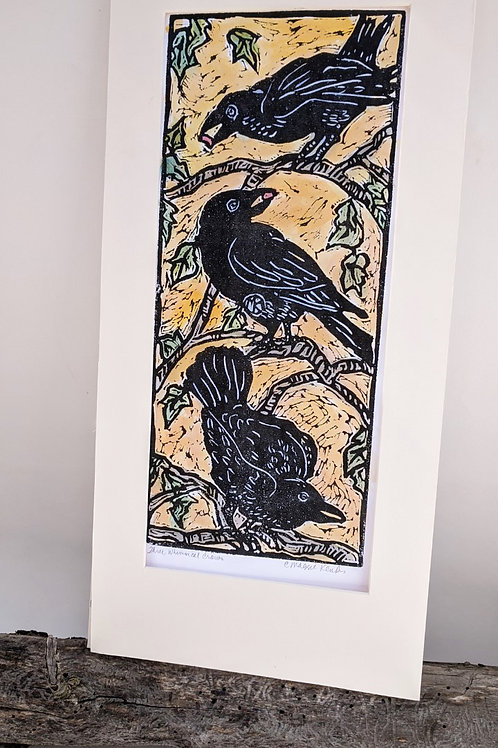 Three Whimsical Crows by Maggie Kendis