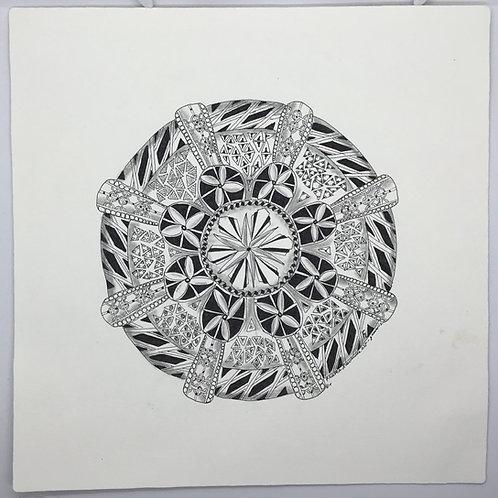 Mandala without Glass by Frietha Lawerence