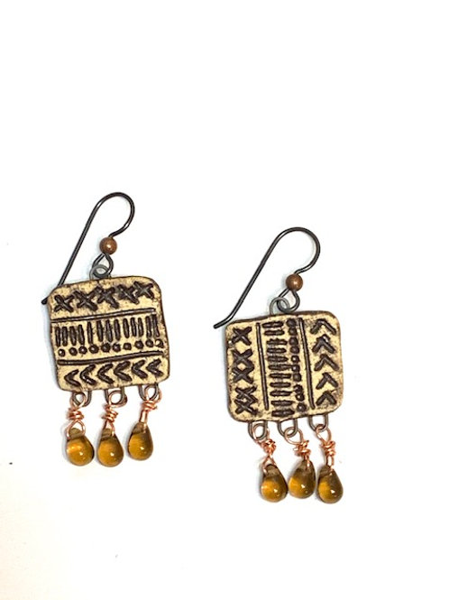 Primitive Code Earrings