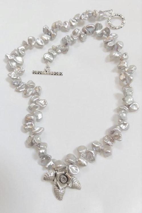 Dancing Pearl Necklace by Karen Drazen
