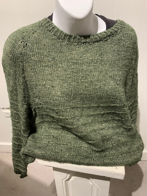 French Sailor inspired knitted sweater by Trisha Corey-Lisle