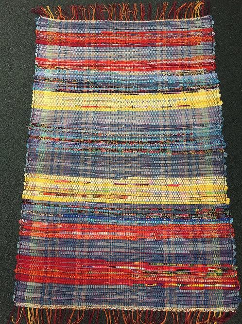 Blue Jean Rag Rug by Kathy Weigold