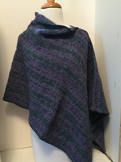 Blue Jean Poncho by Kathy Weigold