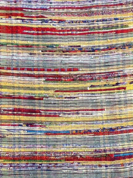 Yellows Rag Rug by Kathy Weigold