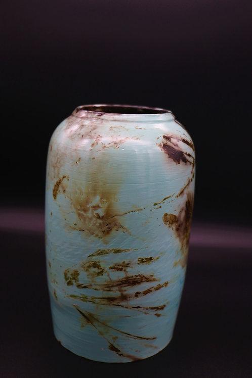 Sawdust Turquoise Vase by Shelly Napoletano Flynn
