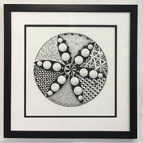Mandala Framed w/ Glass by Frietha Lawerence