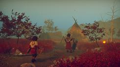 Skábma - Snowfall. Skabma. Áilu's village. An adventure game inspired by indigenous Sámi.