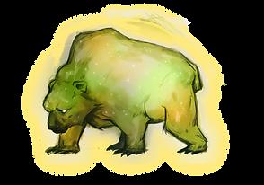 Skábma - Snowfall. Skabma. Áilu's Familiar, a spirit animal. The bear, Guovža. An adventure game inspired by indigneous Sámi.