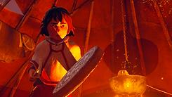 Skábma - Snowfall Game. Skabma. Áilu and a Sámi shaman drum, Goavddis. An adventure game inspired by indigenous Sámi.