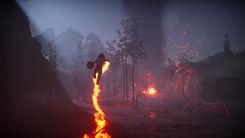Skábma - Snowfall. Skabma. Áilu using the drum's powers. Fire fox, Rieban. An adventure game inspired by indigenous Sámi.