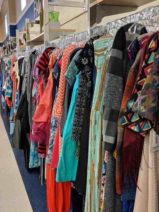 Thrift shop and vintage dresses